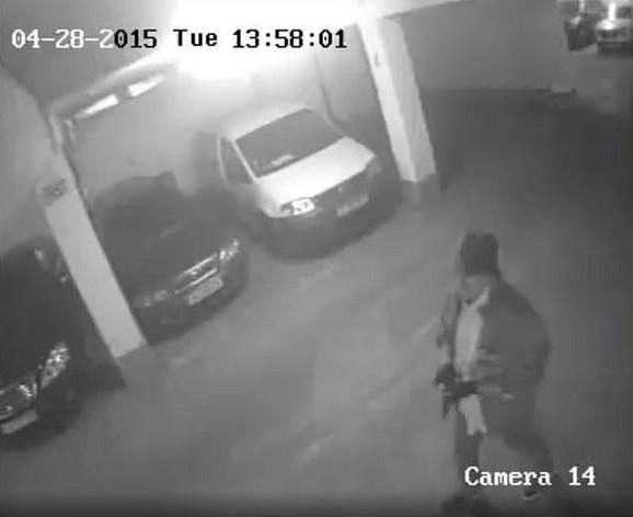 Navodni napadač je snimljen kamerom na parkingu hotela u Sofiji