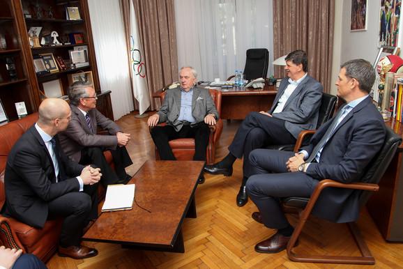 Sastanku su prisustvovali i potpredsednik Olimpijskog komiteta Srbije Žarko Zečević, generalni sekretar OKS Đorđe Višacki, kao i savetnik gospodina Čepurina Oleg Kokorin