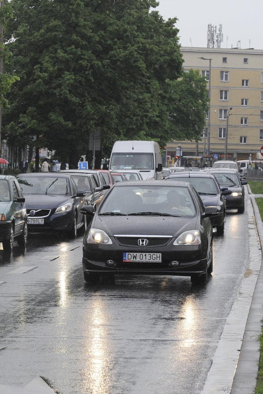 Korek samochodowy we Wrocławiu