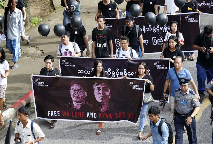 Mjanmar protest novinari EPA CHRISTIAN BRUNA