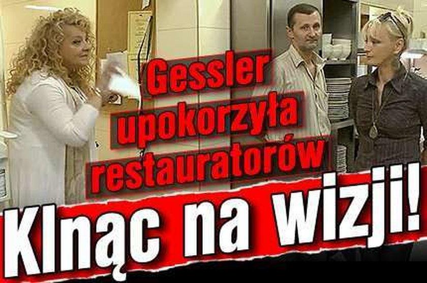 Gessler upokorzyła restauratorów. Klnąc na wizji!