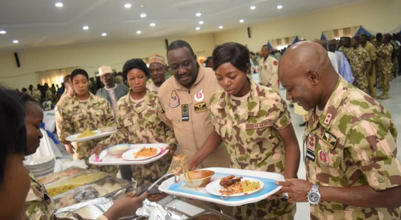 Airforce chief celebrates Christmas with troops fighting Boko Haram in Maiduguri