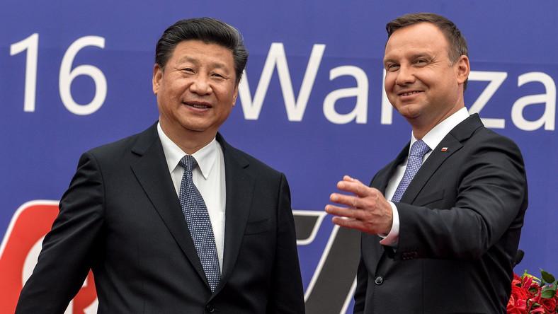 Prezydent Andrzej Duda i przewodniczący Chińskiej Republiki Ludowej Xi Jinping
