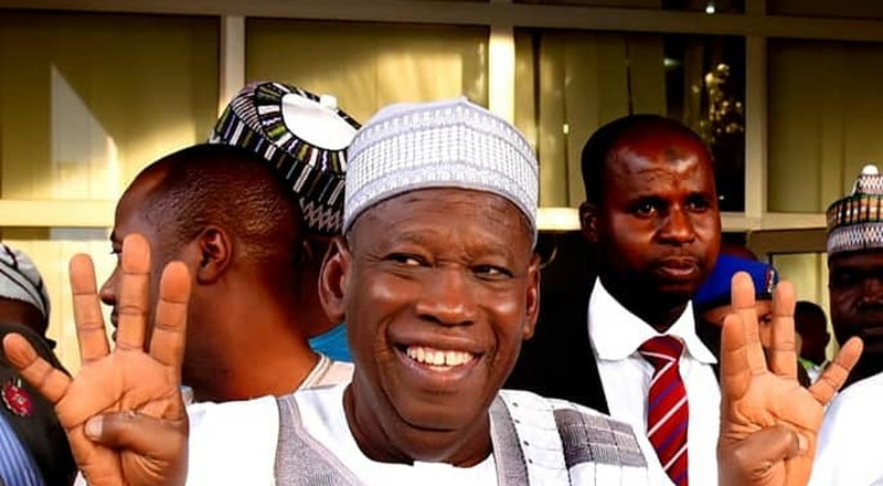 Ganduje thanks supporters for re-electing him  for second term