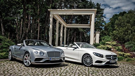 Bentley Continental GTC vs Mercedes S 500 kabriolet – nowa sytuacja