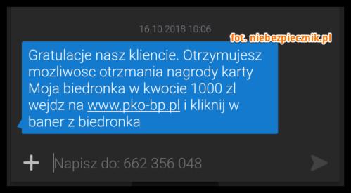 Karta Moja Biedronka Na 1000 Zlotych Uwazajcie Bo Spamerzy Chca