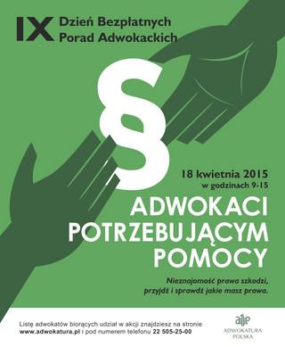Dzień Bezpłatnych Porad Adwokackich. W akcji pro bono bierze udział ok. 600 adwokatów