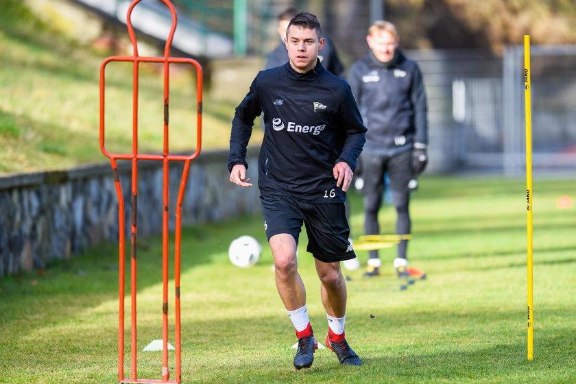 Pilka nozna. Ekstraklasa. Lechia Gdansk. Trening. 30.01.2018