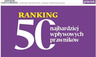 Ranking 50 najbardziej wpływowych prawników