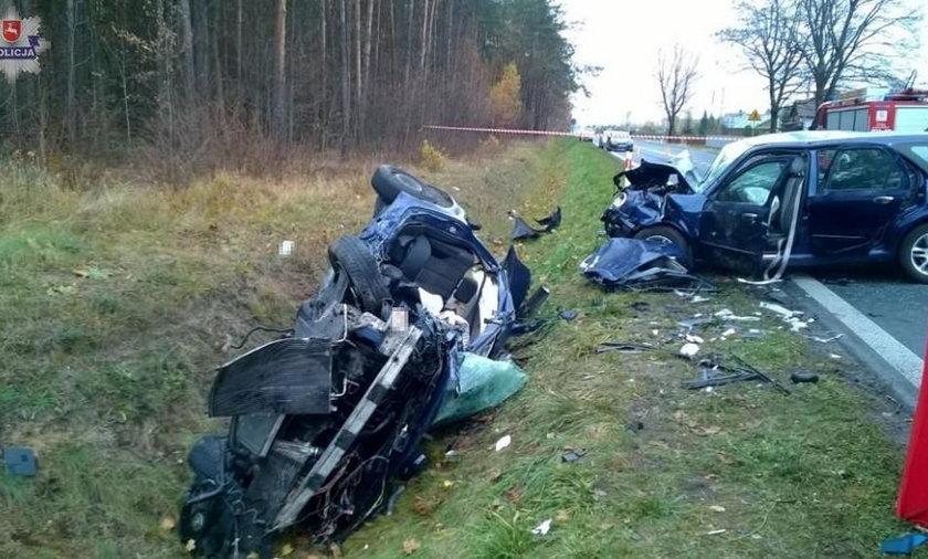 Koszmarny wypadek pod Biłgorajem! Jedna osoba nie żyje, sześć jest rannych