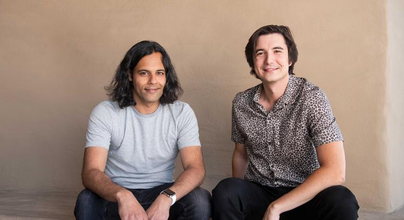 Baiju Bhatt and Vlad Tenev cofounders and CEOs of Robinhood