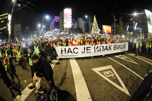 Protestni skup i šetnja za Olivera Ivanovića
