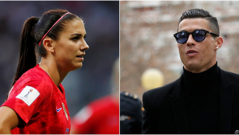 Alex Morgan and Cristiano Ronaldo