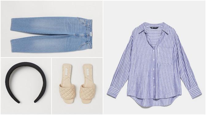 "Košulja ""Zara"", farmerke, rajf i papuče H&M"