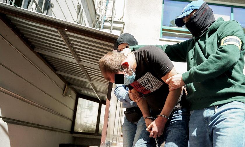 Krzysztof B. trafił w ręce policji.