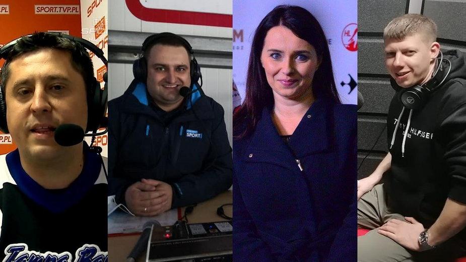 Dziennikarze: Patryk Rokicki, Grzegorz Michalewski, Olga Rybicka i Tadeusz Musioł