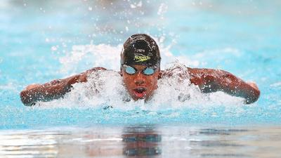 Video: Watch how Abeiku Jackson missed out on 100m butterfly semi-final by just 2 seconds