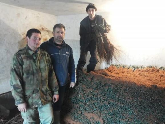 Raco Pantelić (u sredini) sa svojim kalemovima