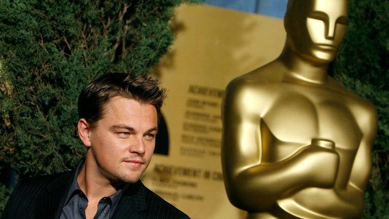 Leonardo DiCaprio podczas gali wręczenia Oscarów w 2007 roku