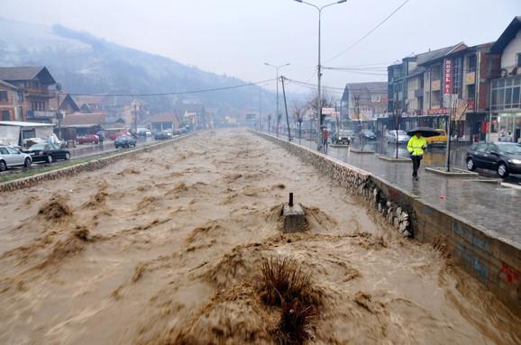 Poplava u Novom Pazaru u martu 2016.