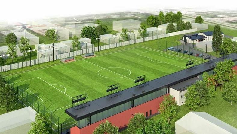 Wizualizacja stadionu Prądniczanki