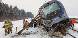 Pociąg Intercity wykolejony! Zobacz zdjęcia po zderzeniu z cysterną