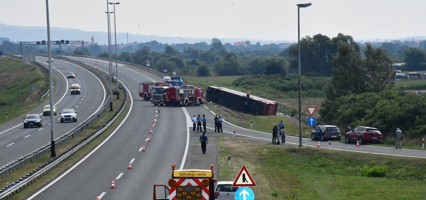 Wypadek autokaru w Chorwacji. Niestety, jest wiele ofiar. ZDJĘCIA