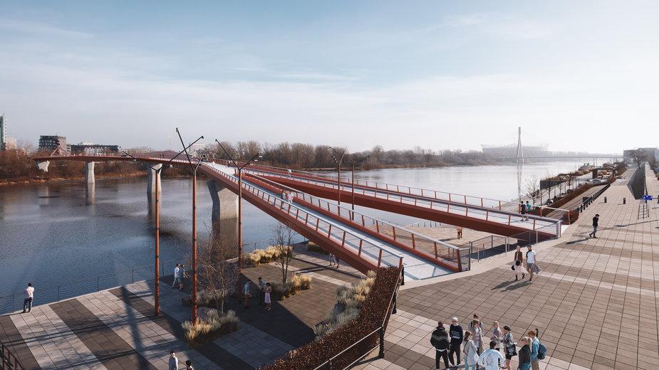 Tak będzie wyglądał most pieszo-rowerowy w Warszawie - wizualizacja