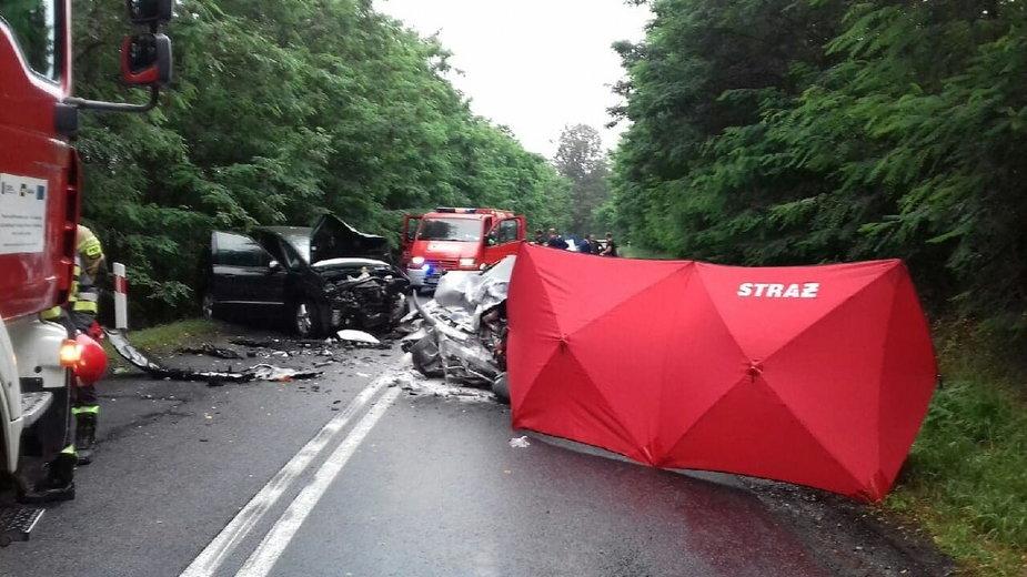Wypadek w powiecie sieradzkim