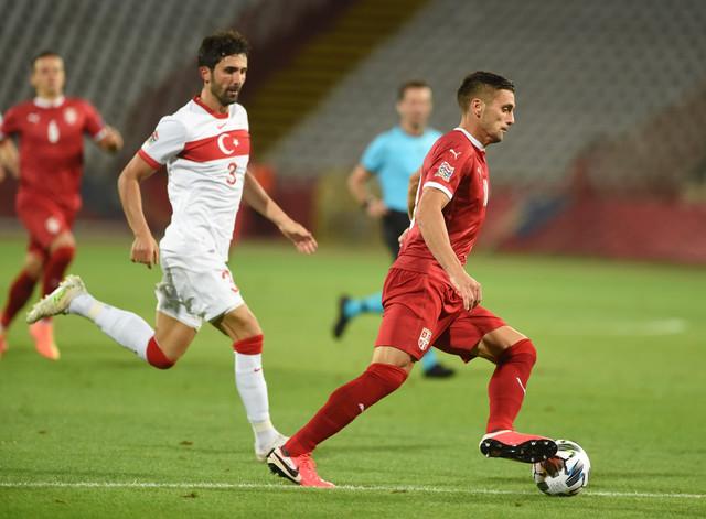 Dušan Tadić na meču koji je fudbalska reprezentacija Srbije igrala u Ligi nacija protiv Turske