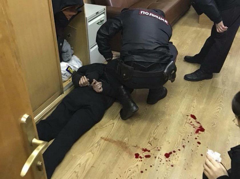 Dziennikarka Tatiana Felgenhauer dostała cios nożem w szyję.