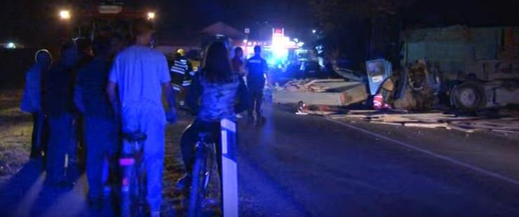 Saobraćajna nesreća kod Svilajnca, lančani sudar prtscn Youtube TV Centar