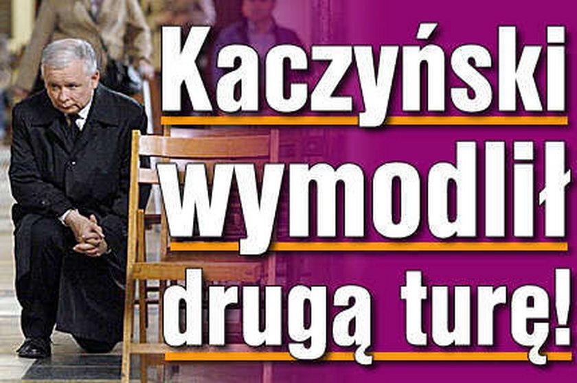 Kaczyński wymodlił II turę! ZOBACZ