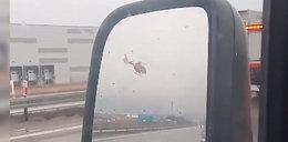 Śmigłowiec LPR niemal rozbił się na autostradzie