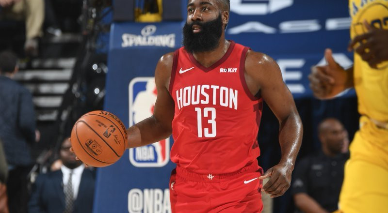 James Harden puts in monster performance as Rockets beat Warriors in NBA