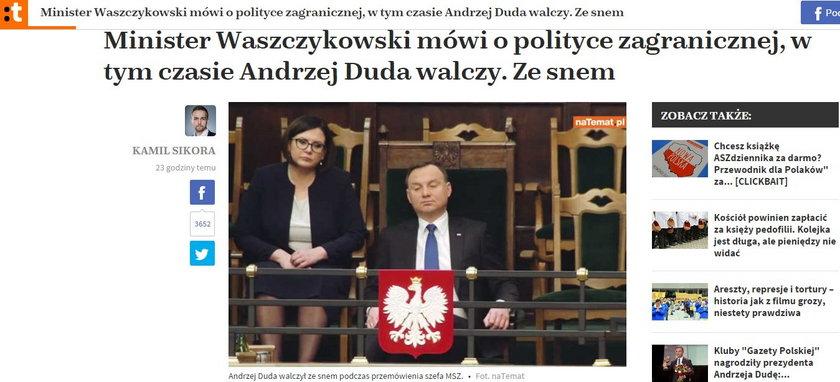 Andrzej Duda przysypiał
