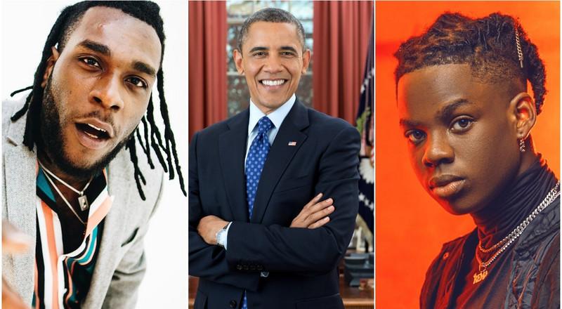 Burna Boy's 'Anybody' and Rema 'Iron Man' are two of Barack Obama's 36 favourite songs of 2019