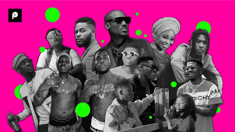 These are the songs that matter right now in Nigeria (Festac Xclusive, Fortune Shotz, Konbini, YouTube/Mr Eazi, Instagram/Skiibii, Naija Tom, Guardian Nigeria, Accelerate TV, Griot Mag)