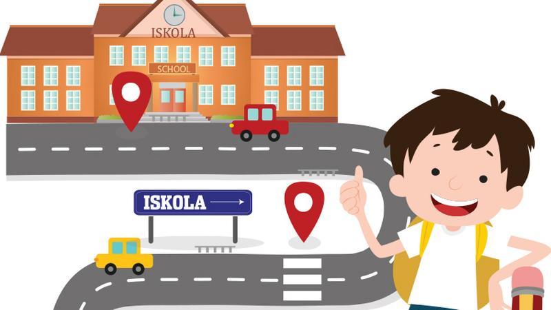 4117954c50 Készítsünk a gyerekkel közösen térképet az iskolába vezető útról, jelöljük  be rajta a veszélyes pontokat