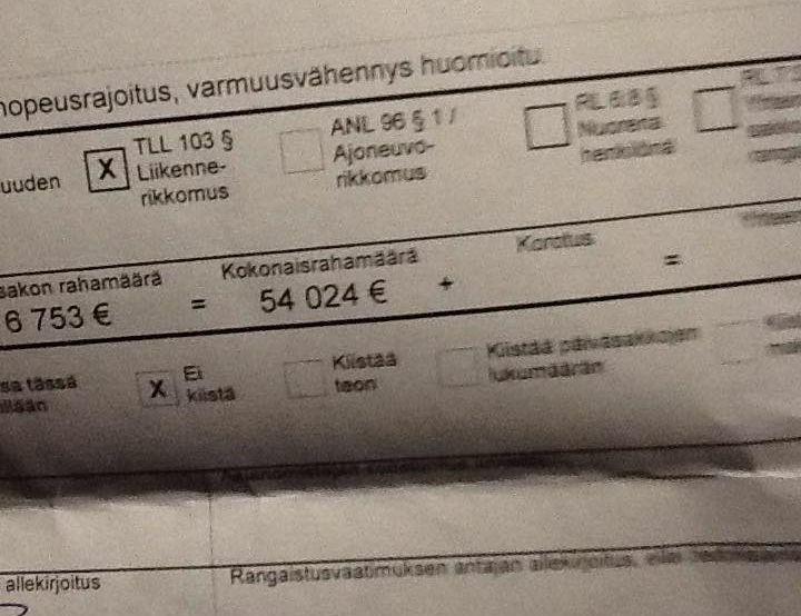 Zdjęcie mandatu, które Reima Kuisla zamieścił na Facbooku
