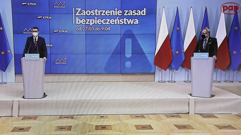 Adam Niedzielski, Mateusz Morawiecki
