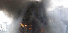 WIDEO 90 osób rannych, 8 zginęło. Pożar 30-piętrowego apartamentowca