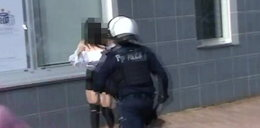 Jest film policji z pałowania w Głogowie. Widać, co działo się chwilę przed interwencją