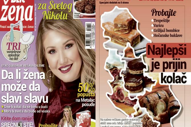 "Nova ""Blic žena"" stiže na kioske: A u njoj najlepši sitni kolači za Svetog Nikolu"