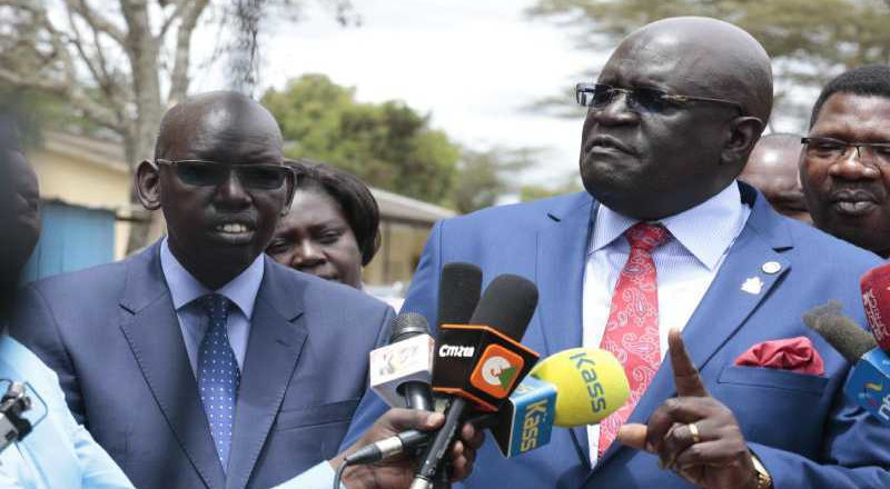 2 officials fired after CS Magoha morning incident at Moi's private school
