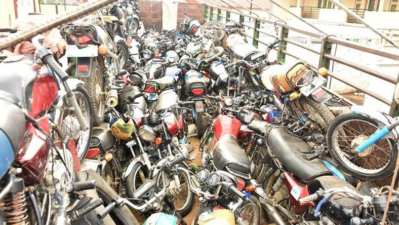 Some of the impounded motorcycles (NAN)