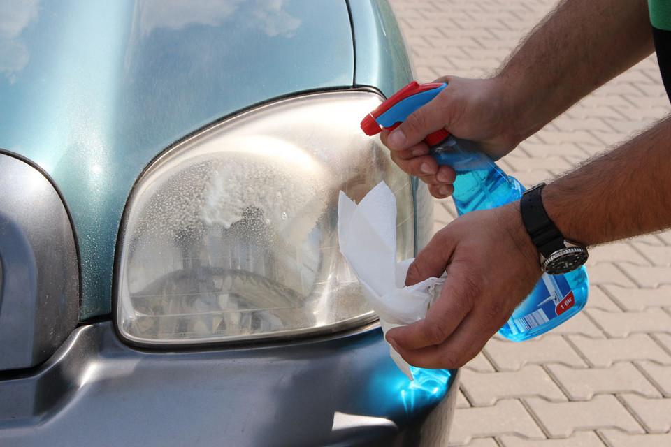 Начните с мытья лампы
