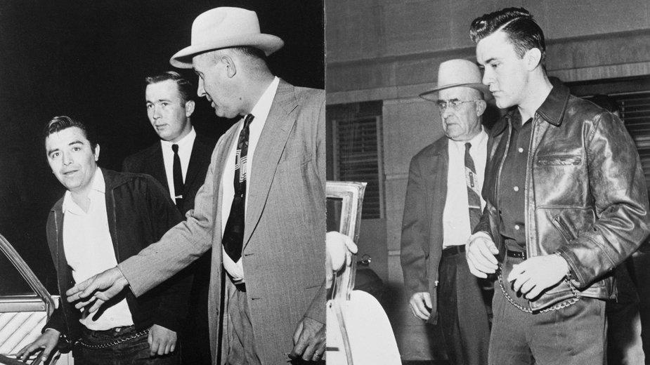 Mordercy rodziny Clutterów, Perry Smith i Richard Hickock, w drodze na egzekucję