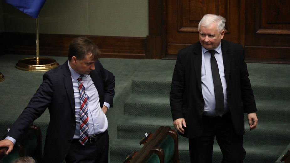 (od lewej) Zbigniew Ziobro i Jarosław Kaczyński