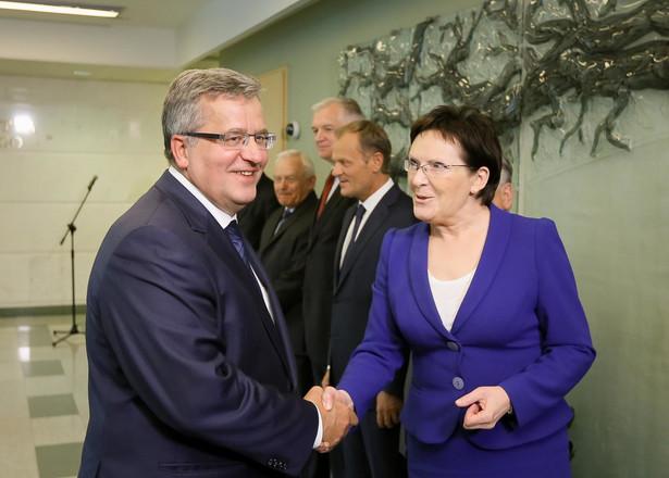 Ewa Kopacz i Bronisław Komorowski. Fot. PAP/Paweł Supernak